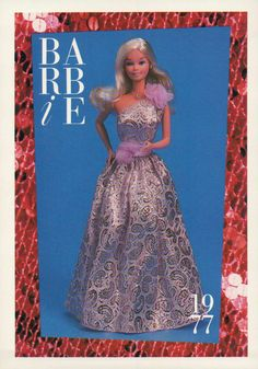 "Barbie Collectible Fashion Card "" Superstar Barbie "" 1977 