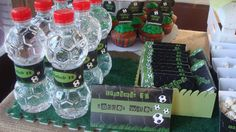 soccer party - waters and chocolates