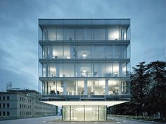 World Trade Organization, Geneva - Expansion of Headquarters / double glass facade: Architecture Visualization, Facade Architecture, Facade Design, Exterior Design, Glass Building, Glass Structure, Glass Facades, Urban Setting, World Trade