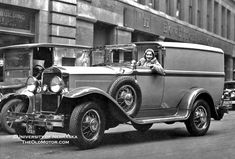 Ruth Etting, who in the 1920s and 1930s had over 60 hit recordings and worked in the stage, radio, and film industry. She is seen here in a city delivery vehicle, a bit of an oddity, as it is wearing some 1929 Cadillac sheet metal, on what appears to be a light truck chassis.