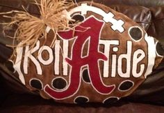 Alabama football burlap doorhanger