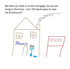 My Mom (or Dad) is on the mortgage, but we are living in the home.  Can I file bankruptcy to stop the foreclosure?