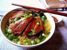 Egg Noddles Soup With Roast Duck 燒鴨麵湯