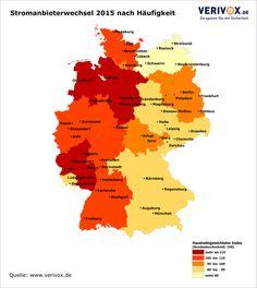 Wer ist deutscher Meister im Stromanbieter-Wechseln? Unsere Infografik zeigt es: Ganz vorne liegt Rheinland-Pfalz, Schlusslichter sind Bremen und Mecklenburg-Vorpommern. Jetzt bis zu 400 € beim #Strom #sparen: www.verivox.de/power