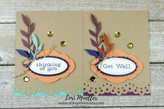 PPHop-Oct2018-FriendsFeather2Cards-Lori-DSC08190 Feather Cards, Stampin Up Paper Pumpkin, Pumpkin Cards, Christmas Card Crafts, Get Well Cards, Fall Cards, Paper Cards, Greeting Cards Handmade, Card Ideas
