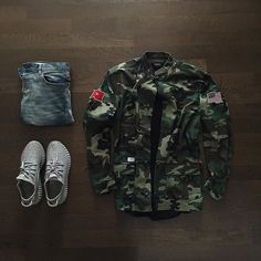 Outfit grid - Street camo look Outfits Hombre, Dope Outfits, Casual Outfits, Runway Fashion, Fashion Models, Mens Fashion, Perfect Outfit, Casual Wear, Men Casual