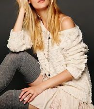 FREE PEOPLE SHAGGY KNIT PULLOVER in 3 different colors