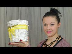 ▶ Košík s kulatým dnem - pletení z papíru (Basket round bottom - Knitting paper) DiY - YouTube