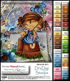 Passionate Paper Creations: Girly-Girl - Di's Digital Stamps