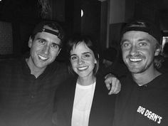 Emma Watson with Matthew Lewis and Tom Felton