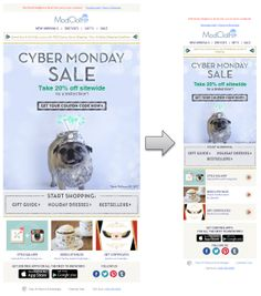 Responsive Email Design from ModCloth