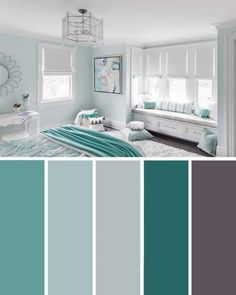 20 Beautiful Bedroom Color Schemes ( Color Chart Included ) – Decor Home Ideas 20 Beautiful Bedroom Color Schemes ( Color Chart Included ) Turquoise White Bedroom Color Scheme Beautiful Bedroom Colors, Home Decor Bedroom, Living Room Color Schemes, Farm House Living Room, Living Room Designs, Beautiful Bedrooms, Home Decor, Bedroom Color Schemes, Bedroom Colors