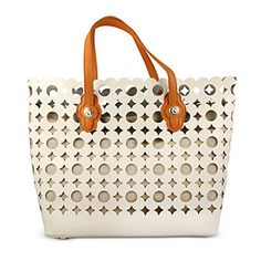 Spartina 449 Boutique Daisy White Tote from Borsheims. Go to Simply Beautiful boutique in Downtown Frederick and get your Spartina on.