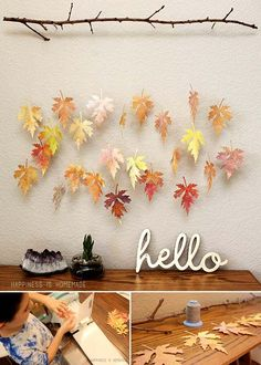 Transform watercolored paper into beautiful fall leaves | Top 24 Fascinating Hanging Decorations That Will Light Up Your Living Space