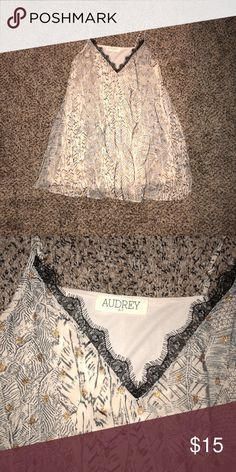 Audrey 3+1 Dress Only worn once!!! Super cute with the gold polka dots. Size M. Fits true to size. In excellent shape! Love this for dates or going out. Audrey 3+1 Dresses