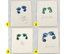 Its a Boy card baby boy cards new baby cards quilling by vitbich