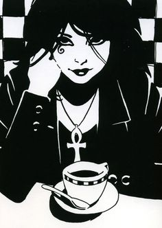 The character of Death from Neil Gaiman's Sandman series of graphic novels.