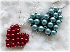 DIY beaded heart locket with secret message inside - YouTube