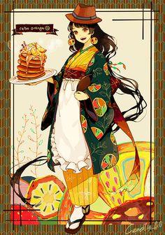 「新発売のハニーオレンジパンケーキ、是非ご堪能あれ♪」