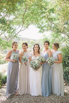 Elegant blue bridesmaids Photography: Coralee Estelle - www.coraleeandalex.com