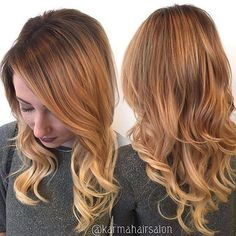 #FLATIRON vs. #CURLINGIRON. How do you add #curls? Jess Barr out of @karmahairsalon slays this #golden #blonde color and finishes it with #perfect undone #waves.