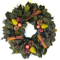 Autumn Fruit Wreath  $58.99  Measures 22-24 inches across