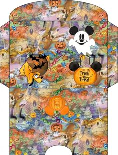 bababearbucket uploaded this image to & envelopes& See the album on Photobucket. Halloween Ii, Disney Halloween, Paper Halloween, Mickey Mouse And Friends, Mickey Minnie Mouse, Paper Envelopes, Cash Envelopes, Disney Printables, Vacation Scrapbook
