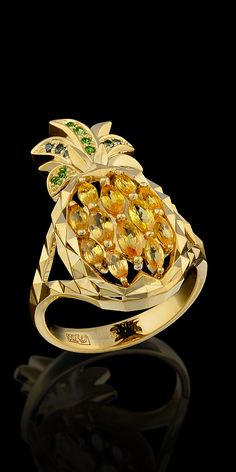 Master Exclusive Jewellery - Collection - Fruits and berries yellow sapphires Shapewear - http://amzn.to/2hGpxP0