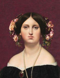 Madame Moitessier - Jean-Auguste Dominique Ingres.