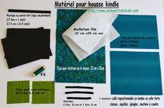 Housse pour Kindle, le tuto... - La chouette bricole Diy Couture, Kindle, Cards Against Humanity, Crochet, Ipad, Style, Totes, Tuto Couture, Sew Simple