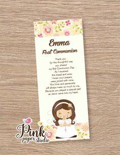 Un favorito personal de mi tienda Etsy https://www.etsy.com/es/listing/221662533/primera-comunion-favor-tarjetas-marcador
