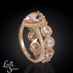 Omg...i would die!!! https://www.etsy.com/listing/173355416/pear-engagement-ring-pear-morganite-ring