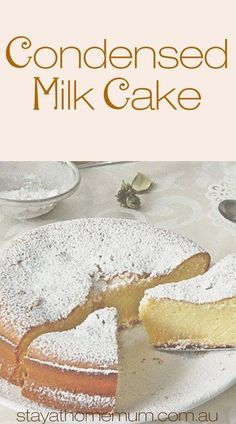 Milk Cake made me fall in love with condensed milk even more. It is unbelievably moist and dense. Sweet enough to satisfy your cravings and the texture is to die for - that is, if you baked it just right! Food Cakes, Cupcake Cakes, Sweets Cake, Köstliche Desserts, Delicious Desserts, Dessert Recipes, Recipes Dinner, Moist Cake Recipes, Desserts With Biscuits