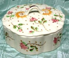 Blue Ridge Pottery Roseworth Covered Candy Dish