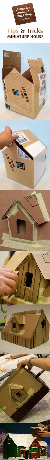 How to make a miniature house. Jenga, Workshop, Miniatures, Animation, Toys, Children, How To Make, Crafts, Activity Toys