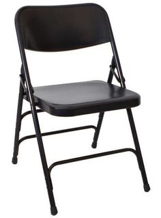 Super Strong Black Metal Folding Chair   Discount Prices   1,000 Lbs Cap    Call For