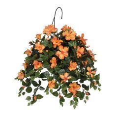 Artificial Hibiscus Hanging Basket
