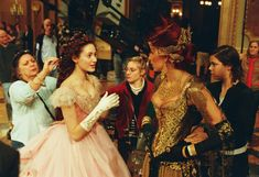 Emmy Rossum and Minnie Driver BTS of The Phantom of the Opera.