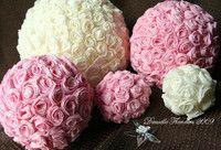 Handmade Crepe Paper Rose Centerpieces