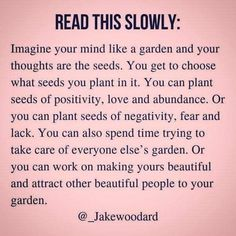 Hot me deep ik another level especially the last few sentences about focusing on your own garden