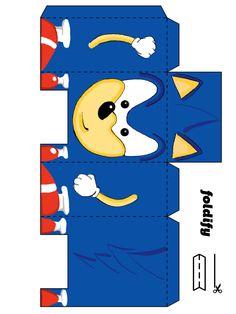 Sonic para imprimir y montar con pegamento en barra.