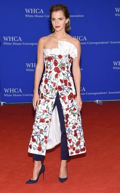 Emma Watson from White House Correspondents' Dinner 2016: Star Sightings | E! Online