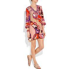 Emilio Pucci Printed Cotton Silk-blend Tunic Dress  http://www.eemiliopucci.com/emilio-pucci-printed-cotton-silkblend-tunic-dress-p-9077.html