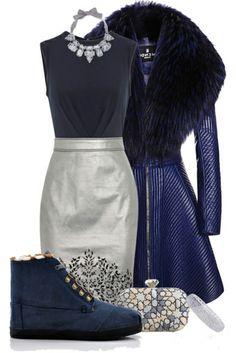 Toms Botas Highlands Fleece Women's Shoes Blue