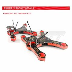 Kingkong 210 FPV Drone Racer Mini Quadcopter Frame SANDWICH KIT Better than QAV210 250 Martian 230 255 Red * To view further for this item, visit the image link.Note:It is affiliate link to Amazon.