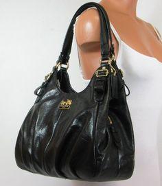 Coach Madison Leather Maggie Shoulder Bag Purse « Clothing Impulse