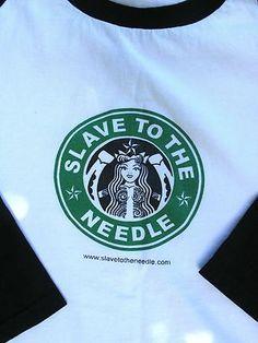 Slave To The Needle Starbucks parody | Seattle tattoo shop