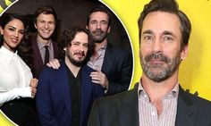 The St. Louis, Missouri native, who became a household name playing ad man Don Draper on AMC's Mad Men, posed with a few of his co-stars in the film.