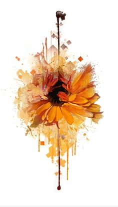 Watercolor sunflower                                                                                                                                                     More