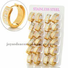 db53f1e3f1a9 argollas 18mm estilo noble en acero dorado inoxidable para mujer  -SSEGG1083993 Argollas De Oro